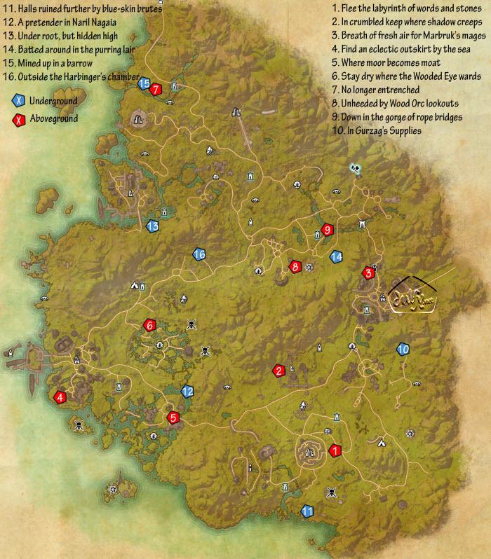 ESO Greenshade Skyshards Guide - Dulfy