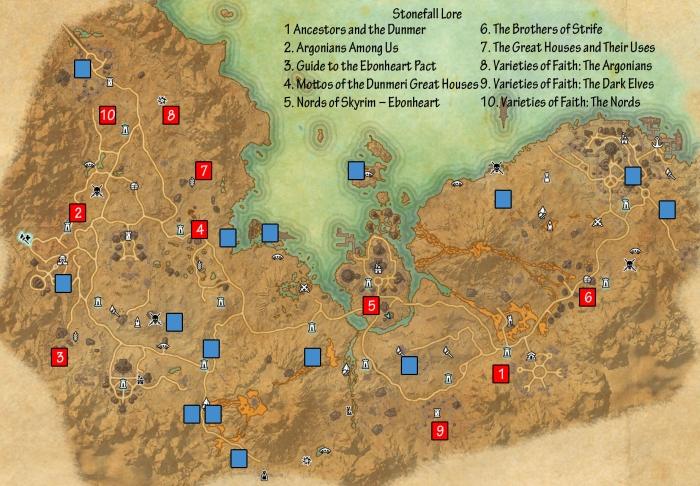 ESO Stonefalls Lore Books Guide - Dulfy