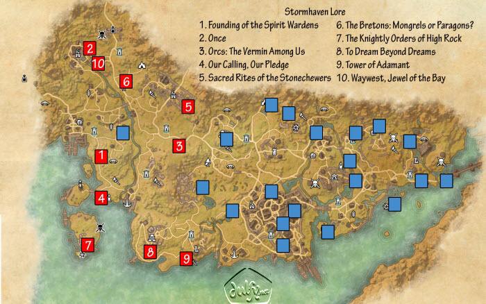 ESO Stormhaven Lorebooks Guide - Dulfy