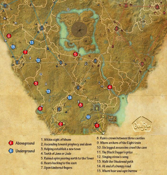 Cyrodiil Map Eso ESO Cyrodiil Aldmeri Skyshards   Dulfy