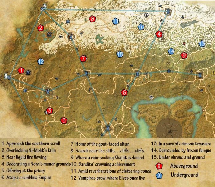 Cyrodiil Map Eso ESO Cyrodiil Daggerfall Skyshards Guide   Dulfy