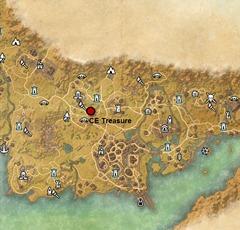 ESO CE Treasure Maps location guide - Dulfy Deshaan Ce Treasure Map on