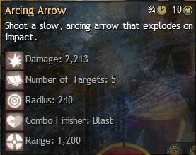 arcing arrow
