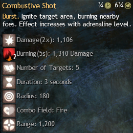 combustive shot