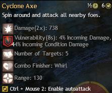 cyclone axe
