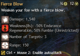 fierce blow