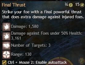 final thrust