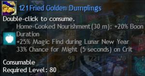 fried golden dumplings