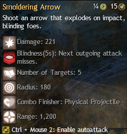 smoldering arrow