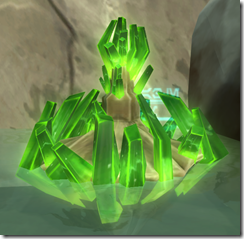 Anomalous Green Crystal Formation