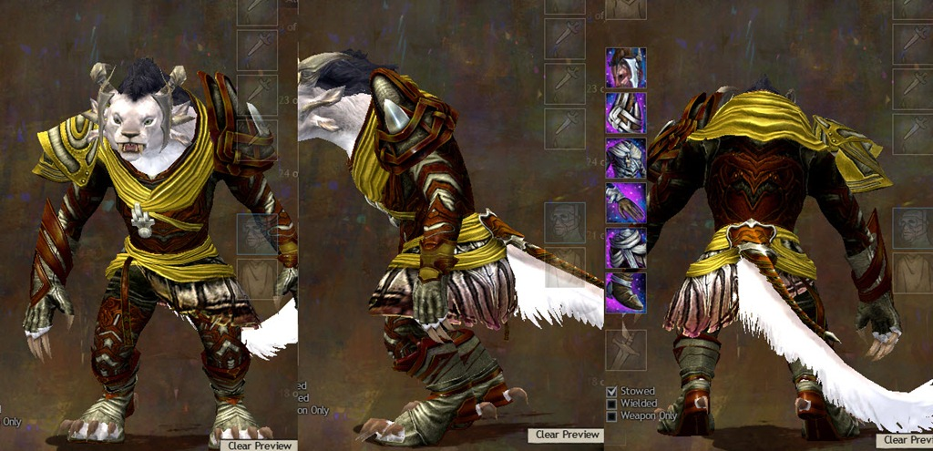 GW2 Carapace and Luminescent Armor Sets - Dulfy