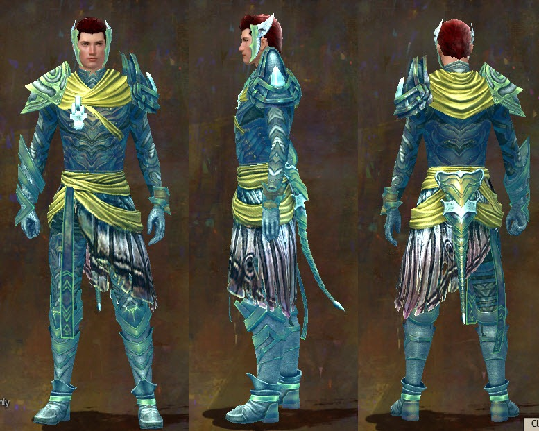 gw2 luminescent light armor set male