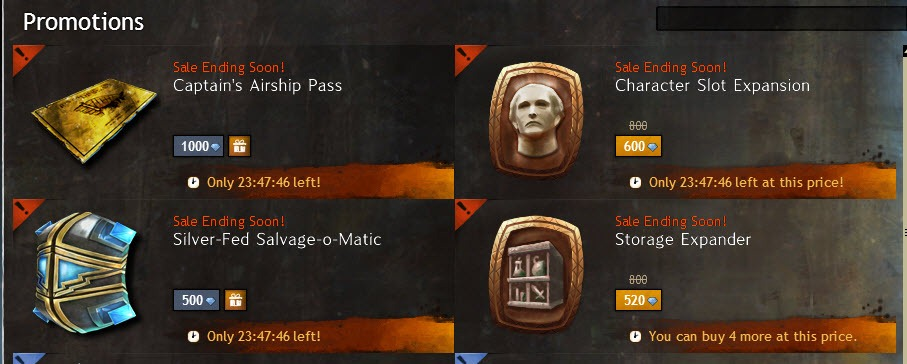 Gw2 Character Slots