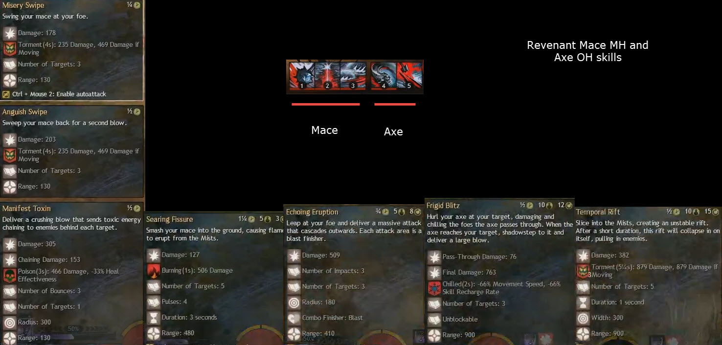 gw2 revenant mace axe skills2