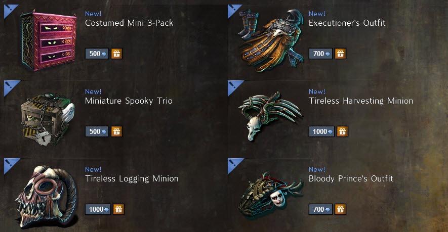 GW2 Gemstore Update–More Returning Halloween Items - Dulfy