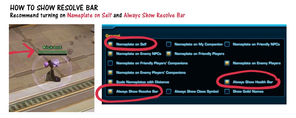 How to Show Resolve Bar