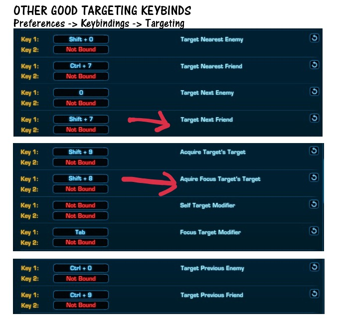 Other Good Targeting Keybinds