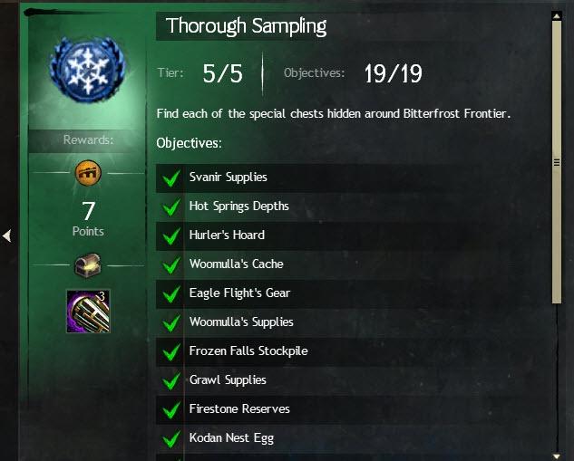 GW2 Thorough Sampling A Crack in the Ice Achievement Guide
