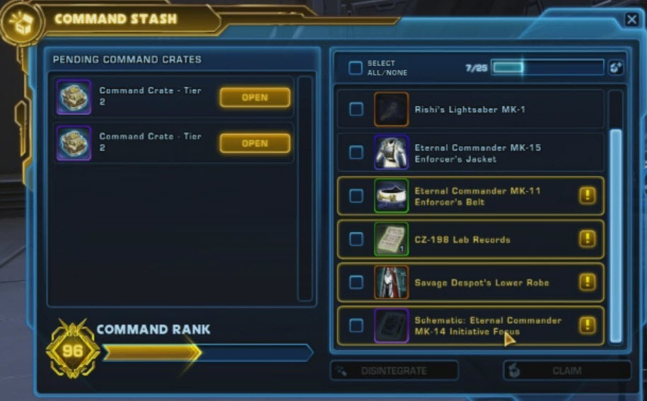 SWTOR 5 0 Galactic Command Guide - Dulfy