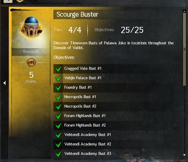 GW2 Scourge Buster Achievement Guide - Dulfy