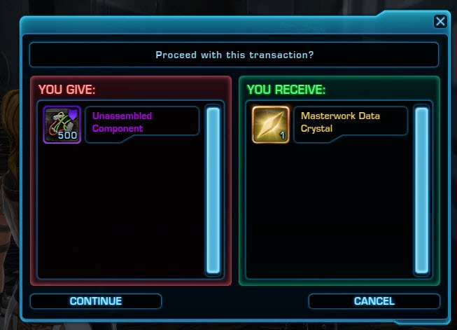 SWTOR Masterwork Armor Crafting & Acquisition in Patch 5 10 - Dulfy