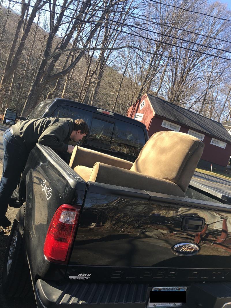 The chair in Matt's pickup