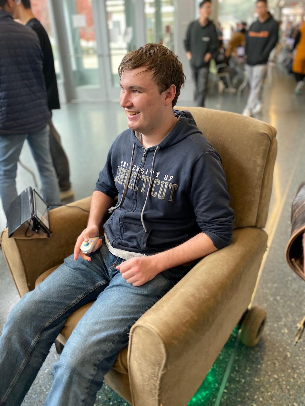 Matt on the chair