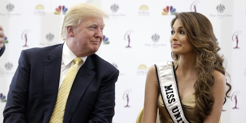 Donald and Miss Universe