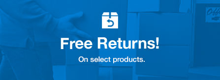 Free Returns, on select products.