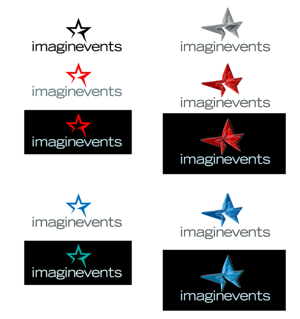 imaginevents logo variations
