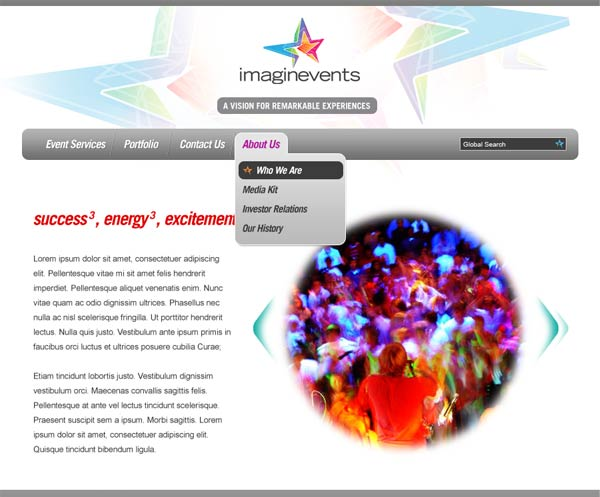 imaginevents website comp 1
