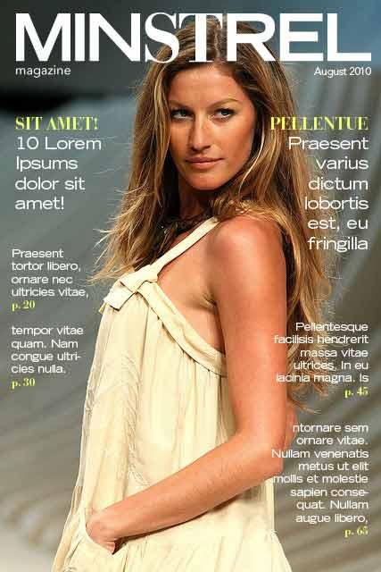 supermodel minstrel cover magazine
