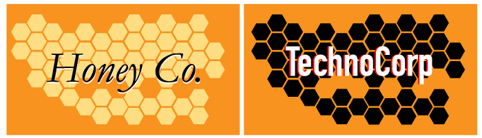 hexagon branded pattern