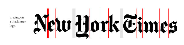 Kerning New York Times