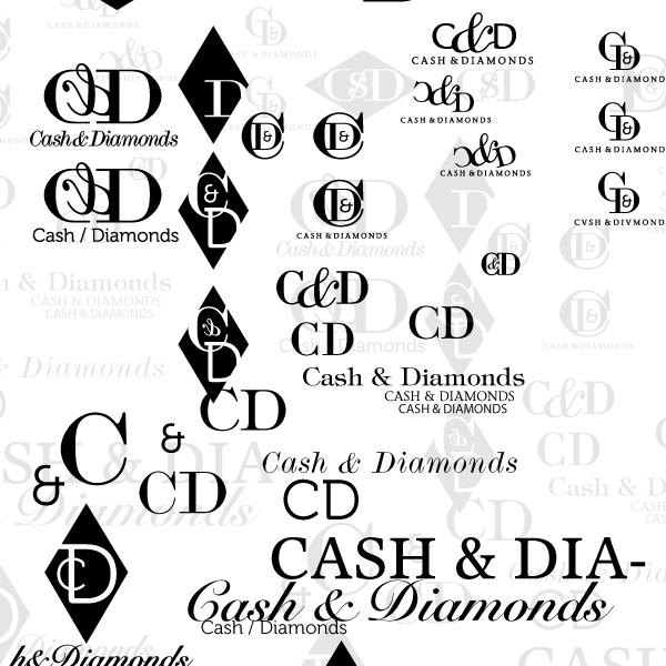 Cash-and-diamonds-logo-initial-concepts