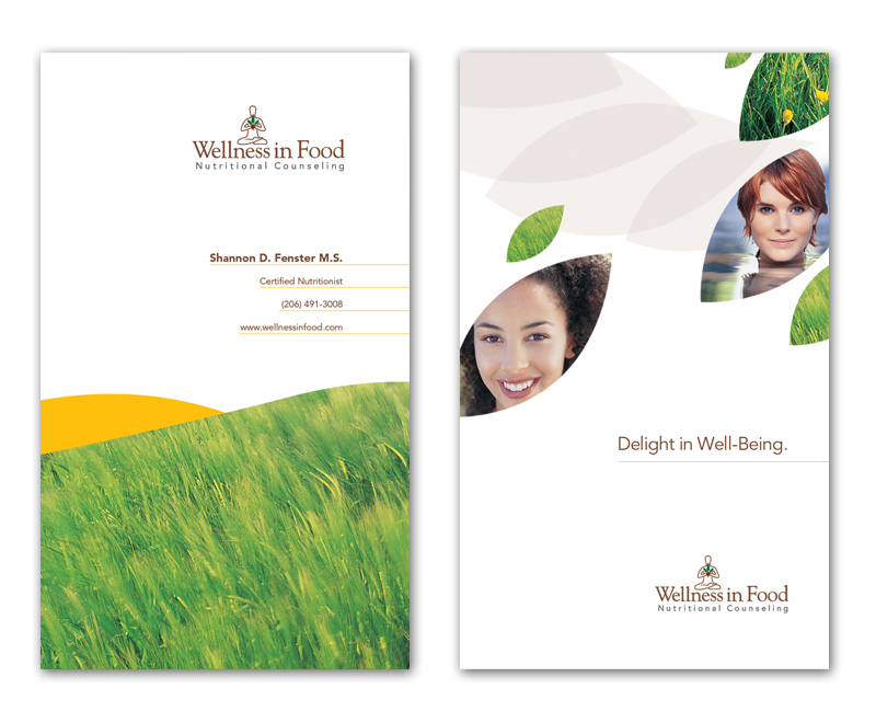 wellness in food business card design concept