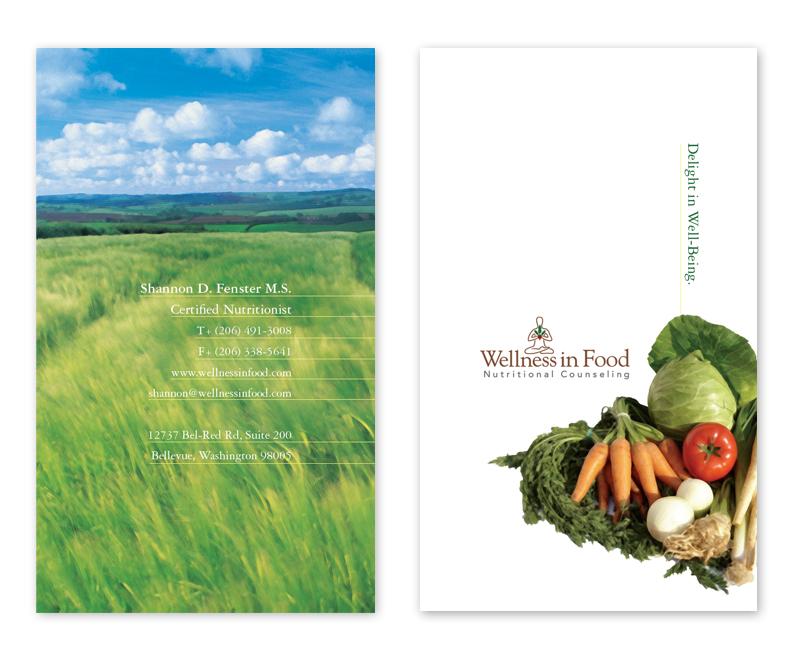 wellness in food business card design
