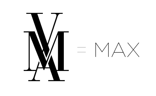 max monogram logo design 2