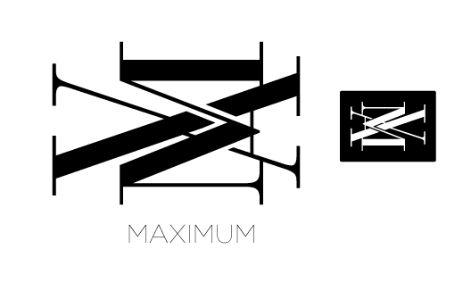 max monogram logo design