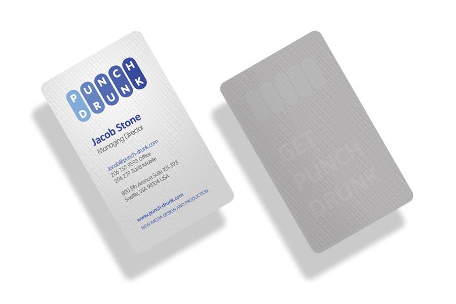 pd biz cards angled