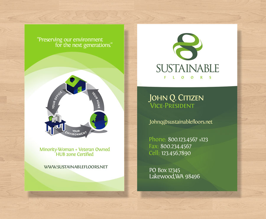 sustainable floors business card design