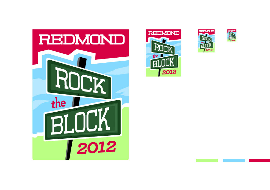 Redmond Rock the Block logo