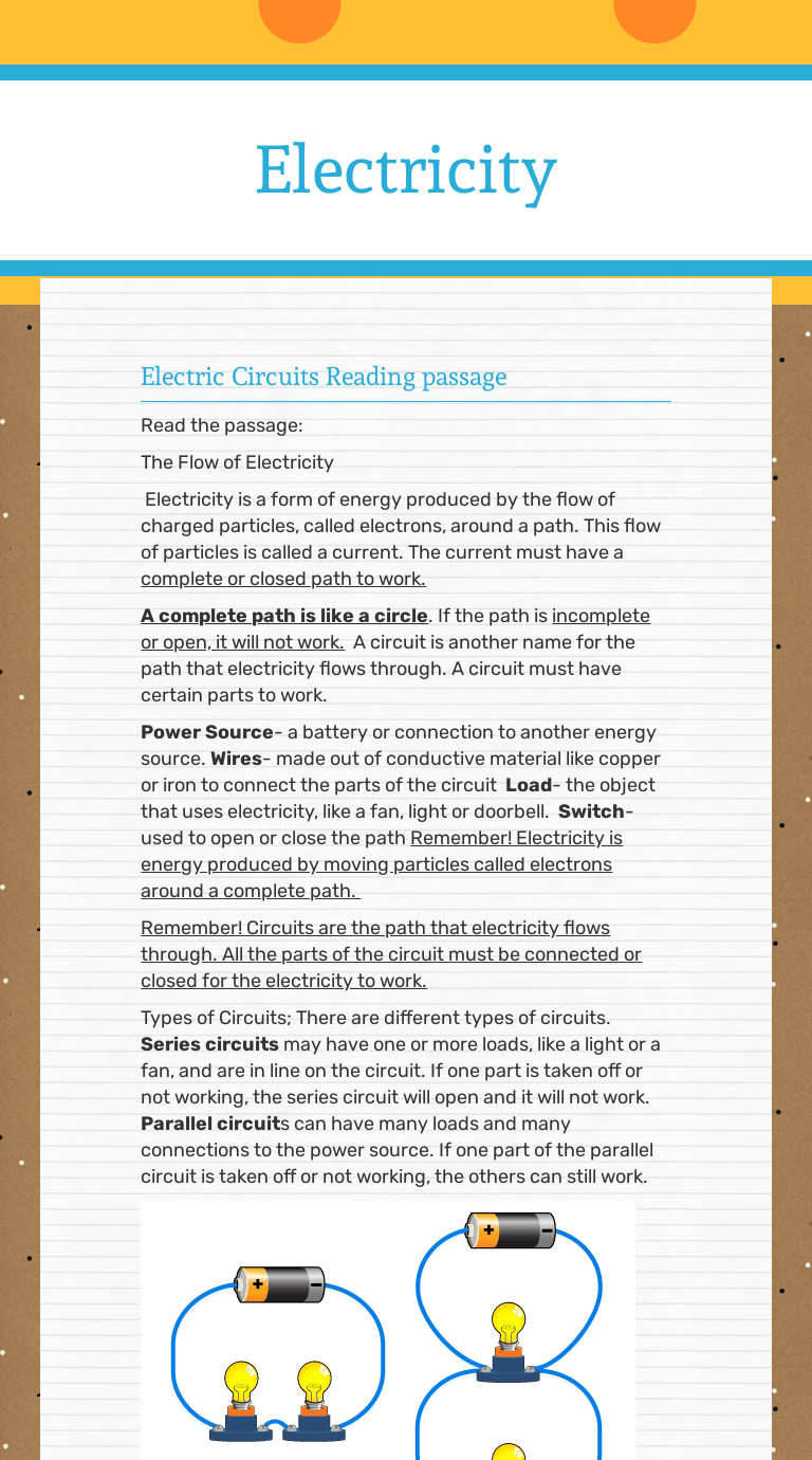 Worksheet Preview By Michelle Rush Blended Worksheets Wizerme Also In A Parallel Circuit The Bulbs Are Brighter Because Current