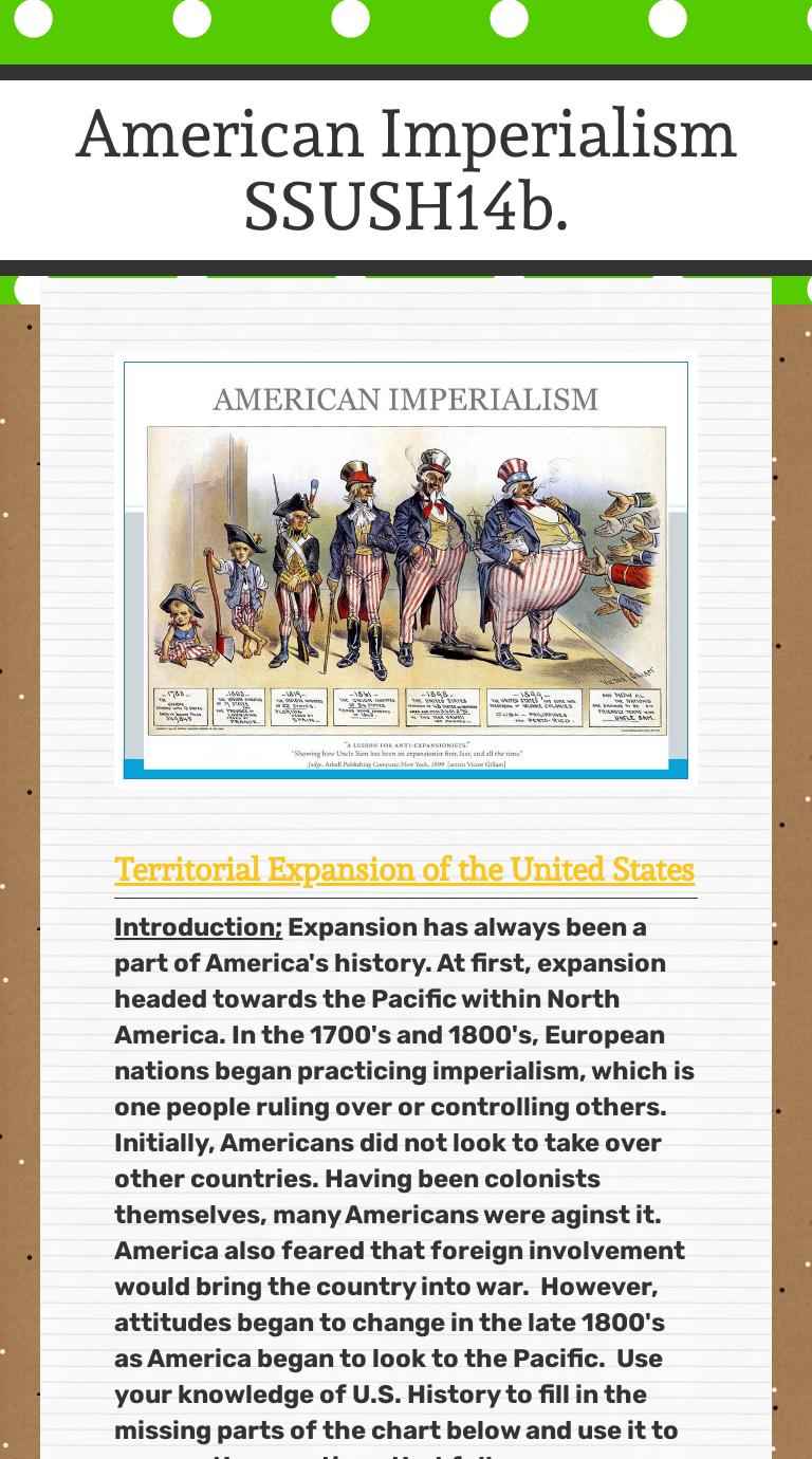 wizerme – American Imperialism Worksheet