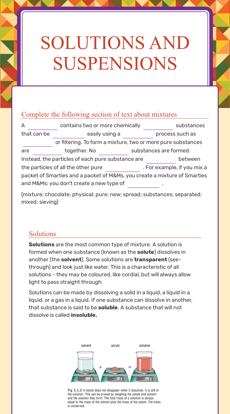 Worksheet Preview By Kate Smith Blended Worksheets Wizer Me