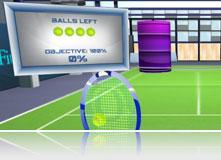 Теннис с кеглями