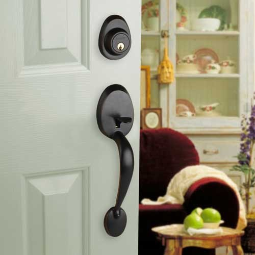 Front Door Entry Set Lock Oil Rubbed Bronze Lever Vail Ebay