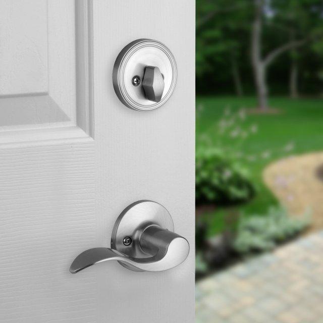 Heritage satin nickel door hardware levers locks ebay - Satin nickel interior door knobs ...