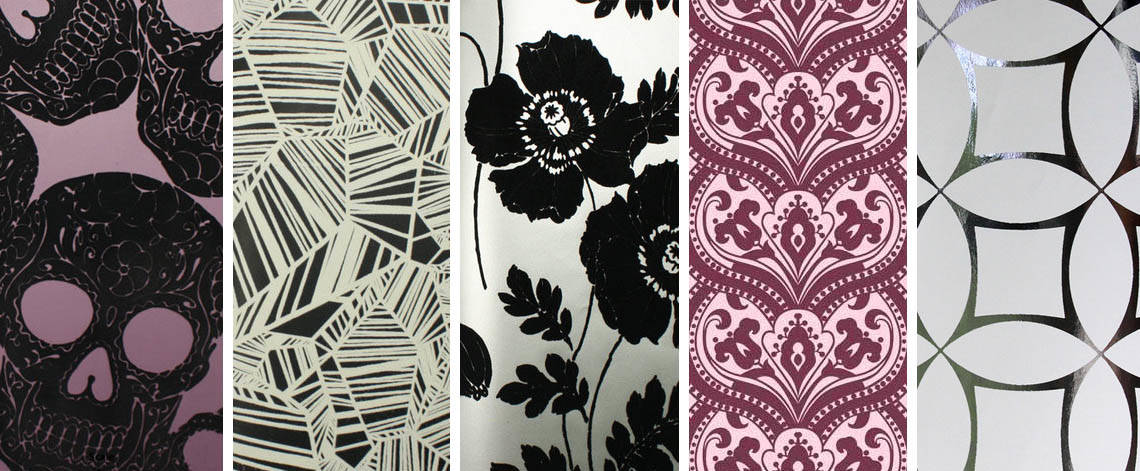 purple and black wallpaper designs