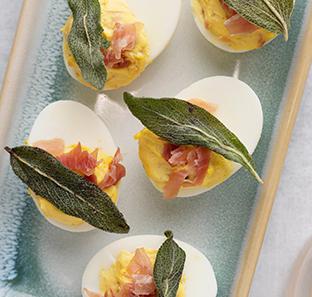 Saltimbocca Deviled Eggs